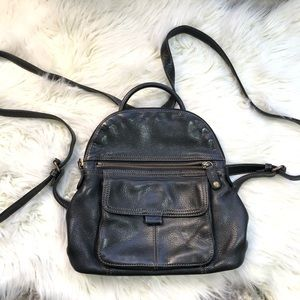 Fossil Leather Backpack